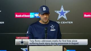 Tony Romo on Dak Prescott & 2016 Cowboys (Full Press Conference) | NFL