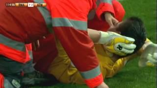 Pelea del Real Madrid vs Atletico de Madrid/ Pelea iniciada por una patada.