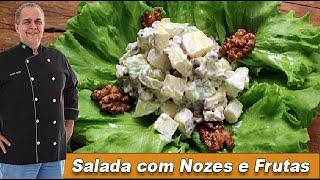 Salada com Nozes Crocantes e Frutas - Chef Taico