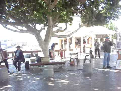 Cape Town Waterfront streetband.MPG
