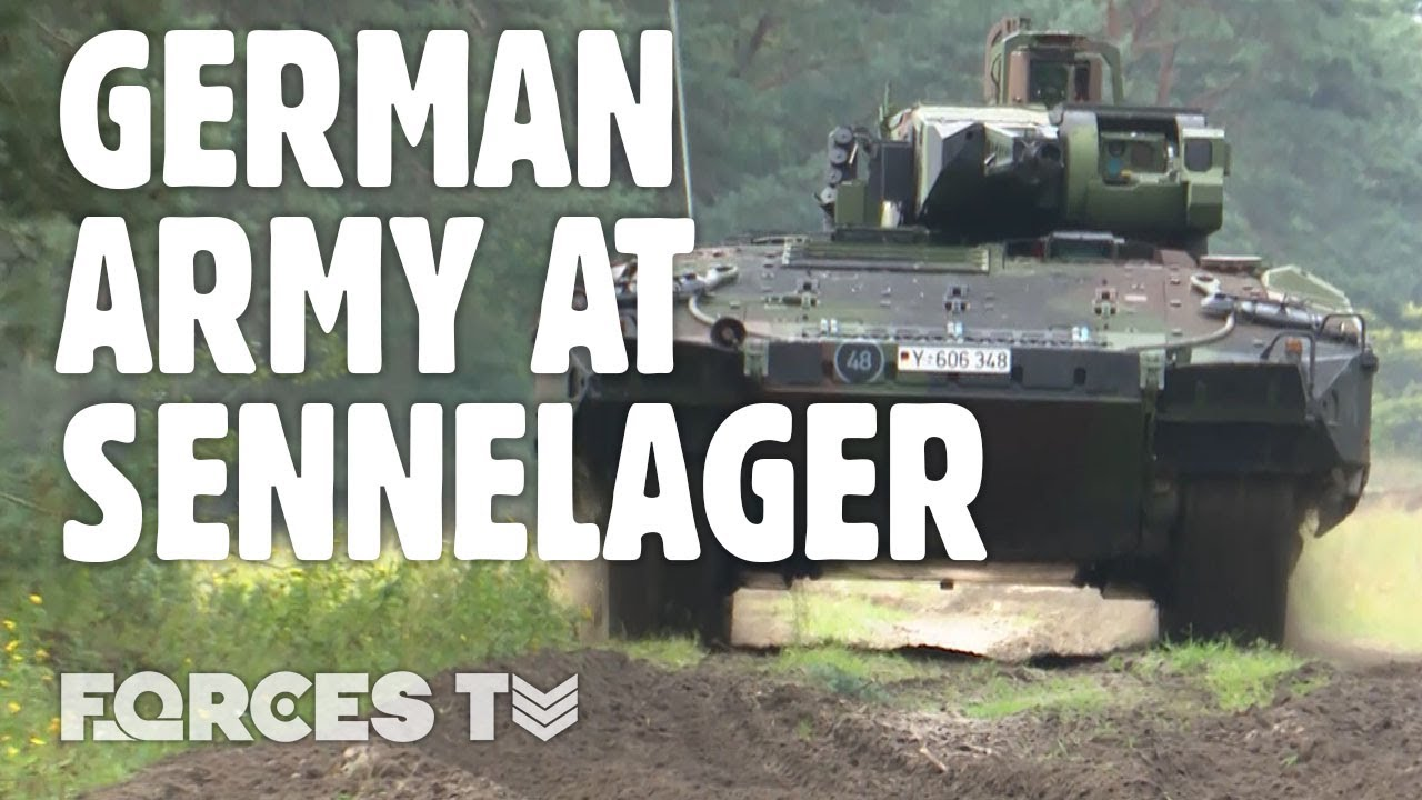 German Troops Train At Sennelager While British Army Personnel Are Away