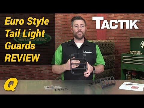 Tactik Euro Style Tail Light Guards for 07-18 Jeep Wrangler JK