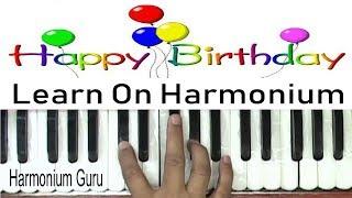 Happy birthday tune harmonium/piano tutorial - Learn to play