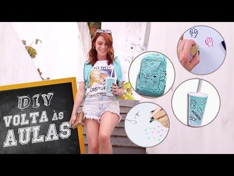DIY :: Volta às Aulas Mochila, Carimbos, Copo personalizado