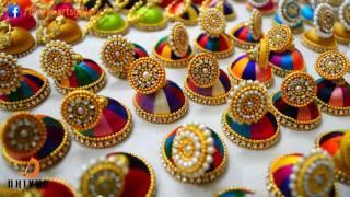 200 Jimikki Kammal / Silk thread earrings at home / Silk thread Jhumkas |  DIY width=