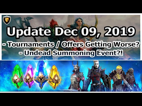 RAID Shadow Legends | Update Dec 09, 2019 | Tourneys / Offers Getting Worse? Undead Summoning?!