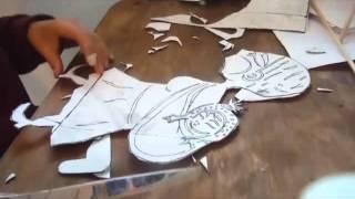 Teatro de sombras fabricación de títere