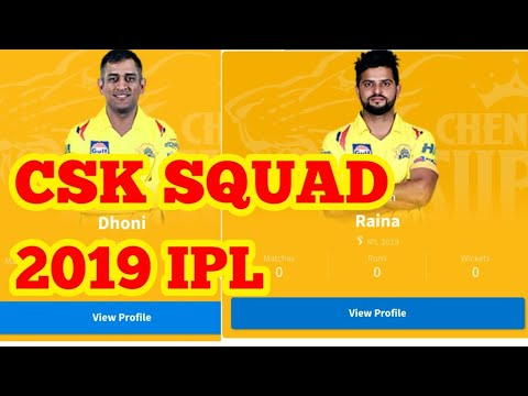 Download thumbnail for Chennai super kings 2019 -Vivo IPL 2019