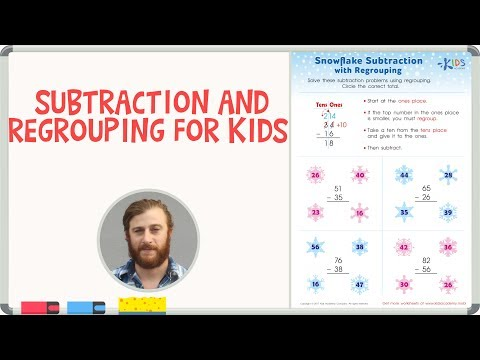 Subtraction and Regrouping for Kids | Math Worksheets for 2nd Grade
