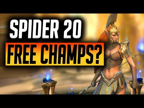 Spider 20 with FREE CHAMPIONS! | Raid: Shadow Legends