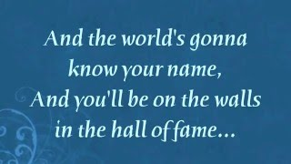 Hall Of Fame   The Script feat  will i am Lyrics