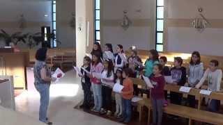 """2015 - Ensaiando """"Partilhai a riqueza"""" (1) - Coro Juvenil de São Pedro do Mar, Quarteira"""