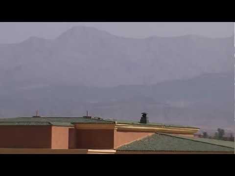 AQUA FUN CLUB MARRAKECH MOROCCO VIEW OF ATLAS MOUNTAINS
