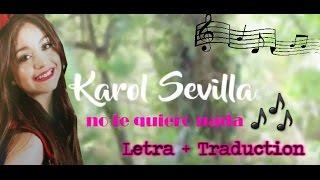 Karol Sevilla I No Te Quiero Nada I Nuevo Cover - Letra + Traduction (Nuevo Cover)