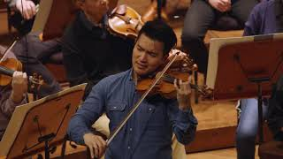 Ray Chen rehearses Brahms' Violin Concerto with the San Francisco Symphony (Third movement)
