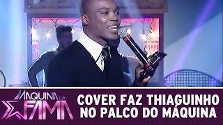 Máquina da Fama (01/06/15) - Cover faz Thiaguinho no palco do Máquina