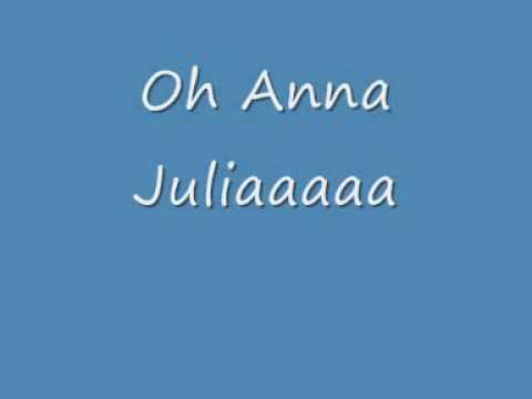 Ana Julia de Los Hermanos Letra y Video