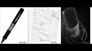 Mundo Segundo c/ Each & Virtus - Caneta Papel e Microfone