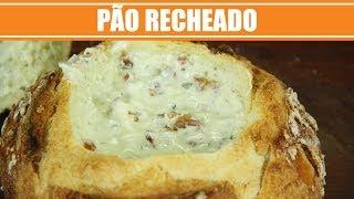 Pão Recheado com Creme de Queijo - Web à Milanesa
