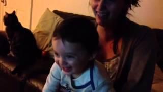 Louis watching Billy & Bam Bam:Nov 2012