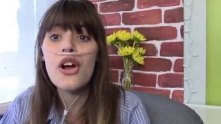Claire Wineland and the Let's Send Hunger Packing Food Drive