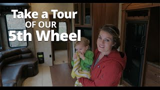 RV Living - Tour of our Sandpiper 5th Wheel w/ Bunkhouse