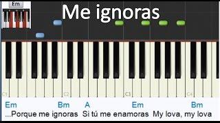 """Como tocar """"Me ignoras"""" alkilados- Piano tutorial - Letra y acordes - MoroMusicPiano"""