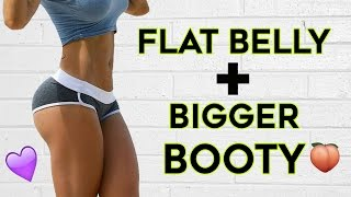 ❤️ How To Get A Flat Stomach and Bigger Butt🍑 | 4 Workouts To Flatten Your Belly & Grow Bigger Butt width=