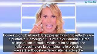 Barbara D'Urso presa in giro in diretta a Pomeriggio 5