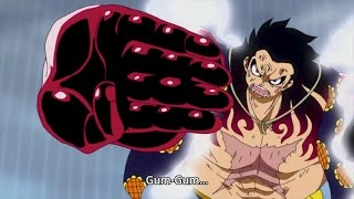 Luffy vs. Doflamingo | Gear 4! (Bounce-Man) | One Piece - Episode 726 [Full HD]