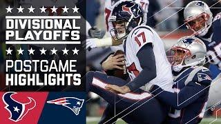 Texans vs. Patriots   NFL Divisional Game Highlights