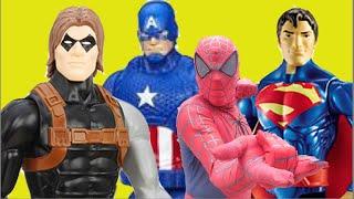 Soldado Invernal Super Homem Homem Aranha Capitão América Mulher Maravilha Guerra Civil Brinquedos