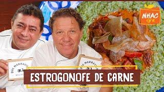 Estrogonofe de filé mignon com arroz de brócolis   Claude Troisgros e Batista   Que Marravilha!