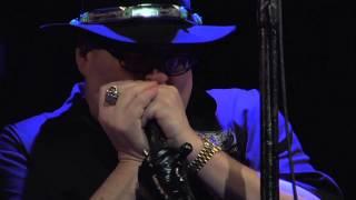 John Popper of Blues Traveler plays the National Anthem on his Harmonica