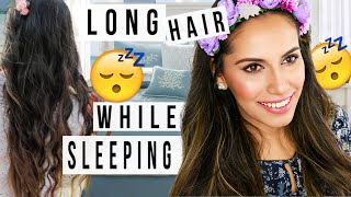 Grow Long Hair WHILE SLEEPING! DIY Hair Hacks! Himani Wright