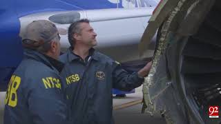 A Southwest airlines engine Explodes, Killing a Passenger- 18 April 2018 - 92NewsHDPlus
