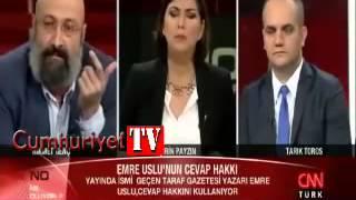 CNN Türk canlı yayınında Emre Uslu ve Hikmet Genç kavgası