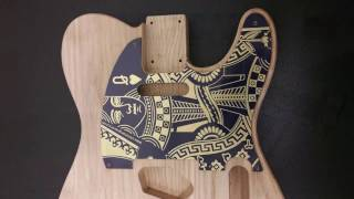 Making and Engraving a Brass Guitar Pick-Guard