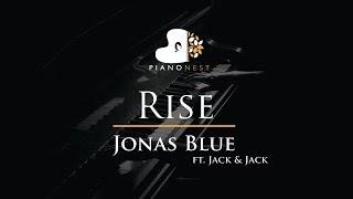 Jonas Blue - Rise ft. Jack & Jack - Piano Karaoke / Sing Along / Cover with Lyrics