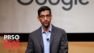 WATCH: Why does Trump's image appear under searches for 'idiot?' Google CEO Pichai answers. width=