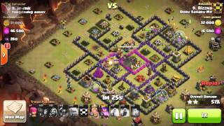 TH9 GOWIPE 3 STAR WAR ATTACK on CLASH OF CLANS