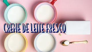 COMO FAZER CREME DE LEITE FRESCO EM CASA | RAIZA COSTA