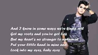adam lambert-music again +lyrics