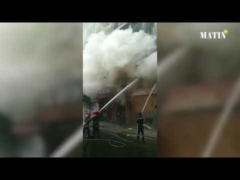 Video : Un incendie ravage un immeuble à Casablanca