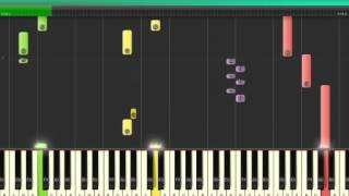 2pac my ambitionz az a ridah[Piano Synthesia Tutorial]NEW** With Piano Chords