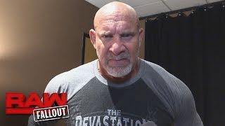 Reacciones de Goldberg después de Raw