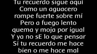 Tu Recuerdo, letra en pantalla Ricky Martin