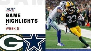 Packers vs. Cowboys Week 5 Highlights   NFL 2019