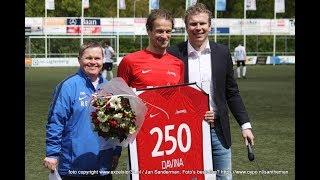 """Screenshot van video Niek Davina 250 wedstrijden in het shirt van Excelsior'31: """"Ik voel me thuis hier"""""""