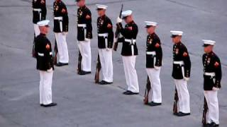 "Marines' Silent Drill with an Oops! (""Military Ceremony Fail"" ORIGINAL)"